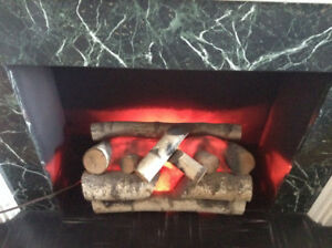 Vintage Magicoal Electric Fireplace Log Set – Great Condition