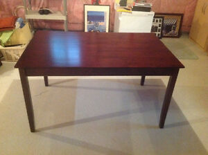 Dining table, brown color, rectangular