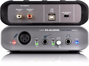 M-Audio Fast Track USB Interface w Fender Patch Cord