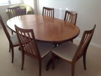 Extending G Plan table & 6 chairs