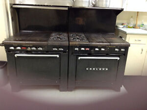 VINTAGE ANTIQUE GARLAND COMMERCIAL GAS STOVES