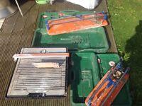Rubi TS hand cutters and Vitrex 750w wet saw