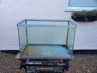 Open topped all glass aquarium vivarium fish tank
