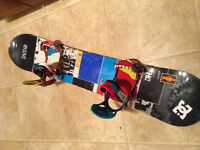 For sale- Ride DHK snowboard with bindings and DC Rogan boots