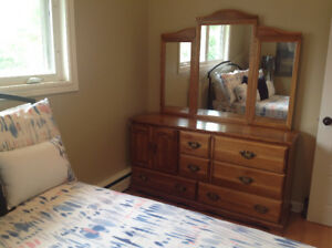 Solid wood dresser and  nightstand - a great price!