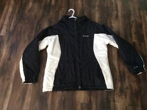 Manteau hiver Columbia noir et blanc
