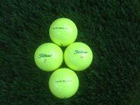 Titleist Mixed Model Yellow Golf Balls x 100. Pearl / A Grade