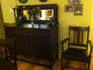 antique Canadian made furniture dresses dinning set and....