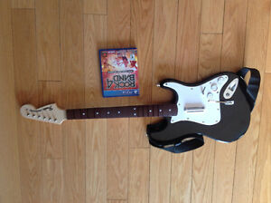 PS4 rockband 4 game and guitar
