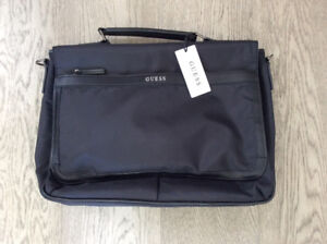 Guess- Black Nylon and Faux Leather  Briefcase