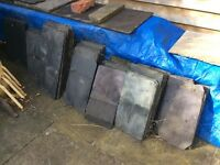 Assorted roofing slate tiles