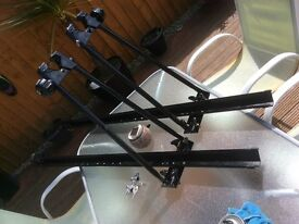 2x roof bar cycle carriers,lockable,quick release,bargain