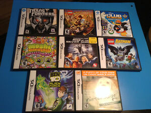 jeu pour console DS - TRANSFORMER - BATMAN- NINTENDOGS ETC