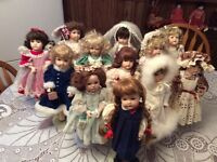 Vi Peirce Collection Of 12 Porcelain Dolls One For Each Month