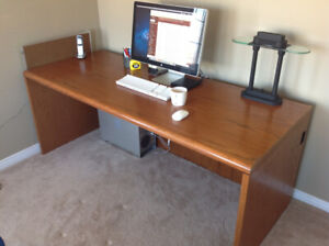Solid Wood Computer Desk - Workspace Table