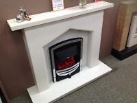 Polar White Fireplace