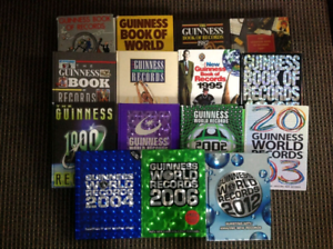 Assortment of Guiness World Record books