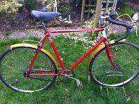 "Retro 60,s Dunelt fixie road bike 22"" frame"