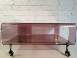 Table basse en acrylique, plexiglass, lucite, vintage