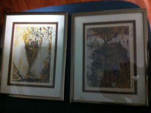 Small Peter Robson framed and matted prints for sale London Ontario image 1