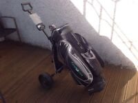 Golf trolley and bag £25 the lot