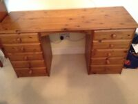 Dressing Table or Desk by Ducal vintage pine.