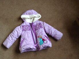 Girls Disney store size 4 Frozen winter coat