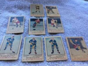 1951-52 Parkhurst Hockey Card Lot of 9