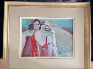 Toile de l'artiste peintre Thérèse Lacasse (1985)