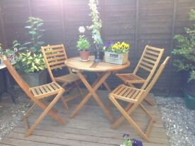John Lewis garden table set and 4 chairs