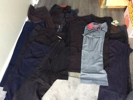 Ladies clothing - 22 pairs of smart/office wear trousers size 14 short - some never worn
