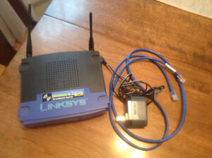 Routeur Linksys  2.4 GHz 54 Mbps