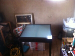 Glass top Dinning/kitchen table w/ extension