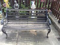 FOR SALE RARE CAST IRON BENCH