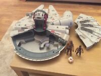 Millennium falcon battle ready.