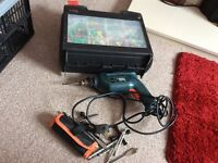 Black and decker electric drill with cases and all accessories