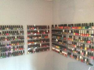 Nail polish 4 acrylic wall mount racks and polish