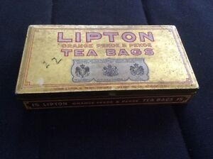 Lipton Tea Bag Tin & Twinings tea tin & other tins