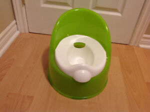 For Sale: Green and White Highback Potty Seat