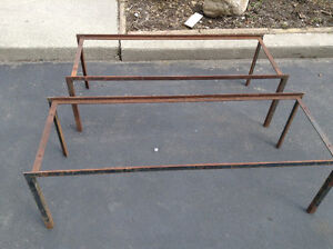 Two Custom made welded steel plant stand or platform