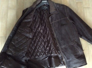 Sporty leather coat