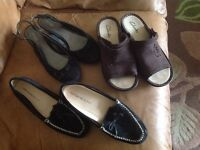 BUNDLE LADIES FOOTWEAR 5.5 CLARKS & M&S ALL LIGHTLY WORN