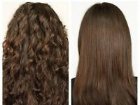 Keratin hair treatment Glasgow , Brazilian blow dry glasgow, hair straightening glasgow,