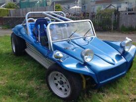 VW blue beach buggy