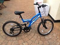 Blue 16 inch wheel bicycle