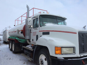 2001 Mack Tandem Water Truck and Camp Shack