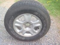 Ford Escape Tires, rims and centers