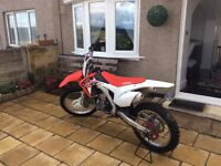 Hi for sale is a 2015 model crf 450 low hours