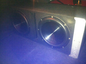 """Dual Clarion amp and 12"""" Subs in Bassworx box or trade"""
