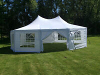 Wedding Tent Rentals, tables, chairs, lighting, tableclothes
